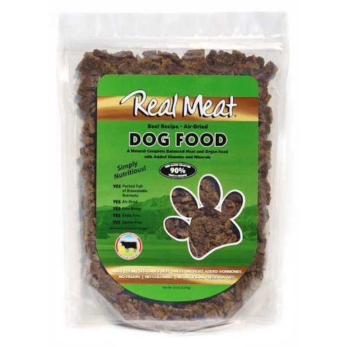 Real Meat, Raw Dried Dog Food - Beef