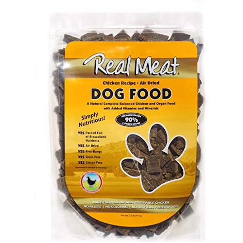 Real Meat, Raw Dried Dog Food - Chicken
