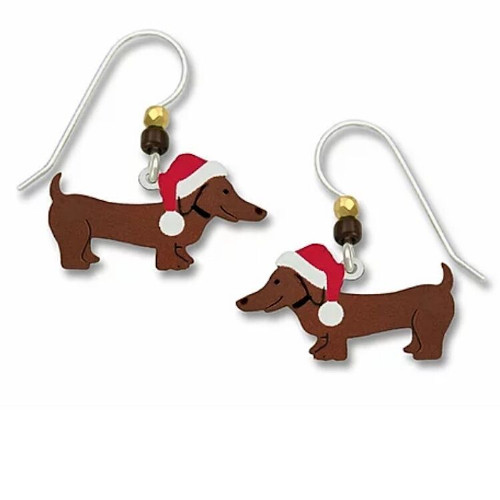 Dachshund Christmas Earrings