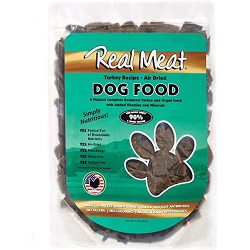 Real Meat, Raw Dried Dog Food - Turkey