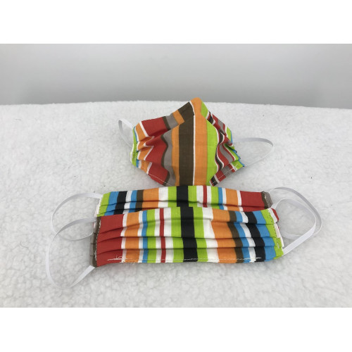 Cotton Face Mask in Cabana Stripe
