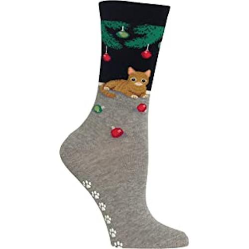 Ladies Cat Christmas Socks