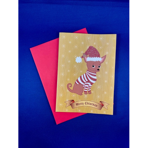 Christmas Chihuahua Greeting Cards